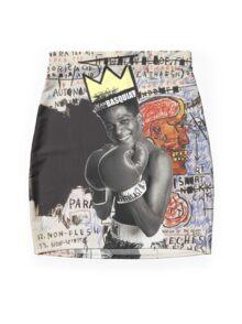 Basquiat (black border) Mini Skirt