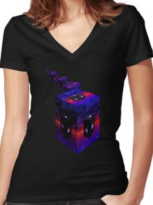 Objects May Appear Larger Women's Fitted V-Neck T-Shirt