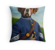 Reginald Biggs - civil war dog - oil painting Throw Pillow