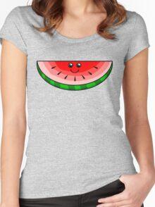 Cute Watermelon Women's Fitted Scoop T-Shirt