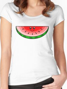Cute Watermelon Women's Fitted Scoop T-Shirt