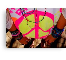 Color my life with peace Canvas Print
