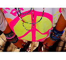 Color my life with peace Photographic Print