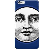 MOON FACE:  BLUE iPhone Case/Skin