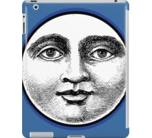 MOON FACE:  BLUE iPad Case/Skin