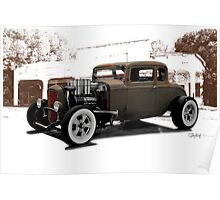 1932 Ford Coupe 'New Shoes' Poster