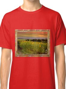 Alberta sunset sunflowers Classic T-Shirt