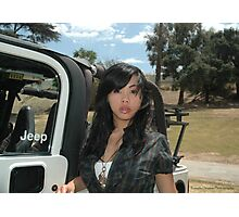 Only in a Jeep. Photographic Print