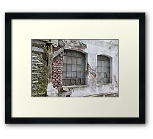 Derelict Wall Framed Print