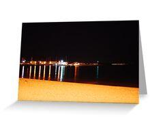 Port Entrance At Night Greeting Card
