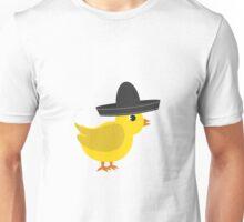 Chick wearing sombrero Unisex T-Shirt