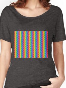 Rainbow Ripples Women's Relaxed Fit T-Shirt