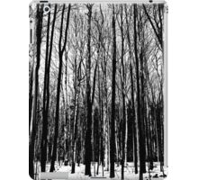 Black And White Forest iPad Case/Skin