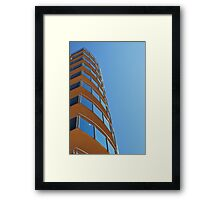 Blue Glass, Blue Sky Framed Print