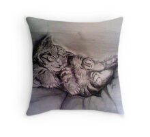 cute and cuddly Throw Pillow