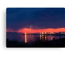 Lightening at Sunset Canvas Print