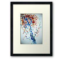 Spiral Spray Framed Print
