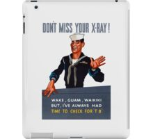 Don't Miss Your X-ray -- WW2 iPad Case/Skin