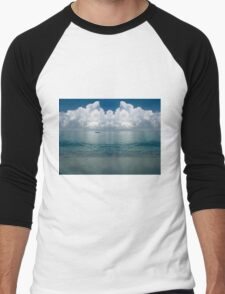 Tropical beach (Curaçao) Men's Baseball ¾ T-Shirt