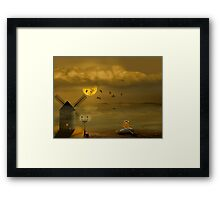 The discovery of cheese land Framed Print