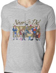 Never Say Die! Mens V-Neck T-Shirt