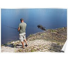 Fishing with Alligators Poster