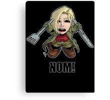 Nom! Amber will eat you Canvas Print