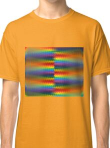 Rows of a Rainbow Fire  Classic T-Shirt