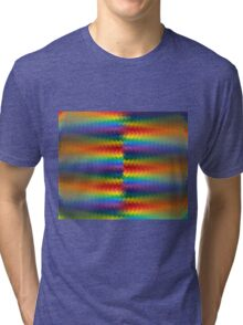 Rows of a Rainbow Fire  Tri-blend T-Shirt