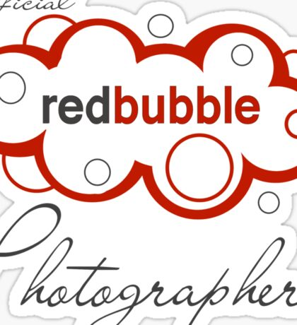 Redbbuble Photographer Sticker