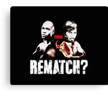 Rematch Mayweather Pacquiao Torn Rotator Cuff Canvas Print