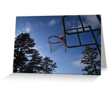 school yard hoops Greeting Card