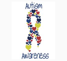 Autism Awareness Hearts by mrsgerm