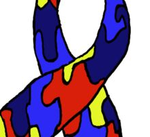Autism Jigsaw Ribbon Awareness Sticker