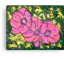 Purple Anemones Canvas Print