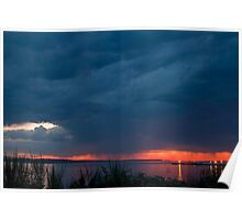 Storm at Sunset Poster