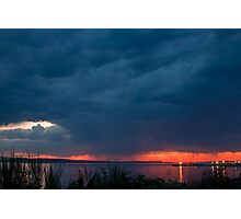 Storm at Sunset Photographic Print