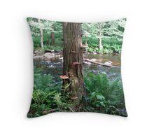 Tree of Fungi Throw Pillow