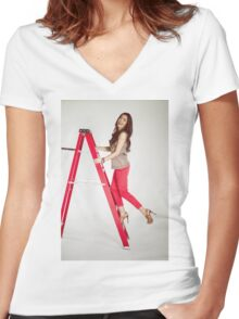 Photoshoot - Up The Ladder Women's Fitted V-Neck T-Shirt