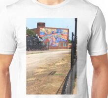 Steam Engine with a Mural in the Way Unisex T-Shirt