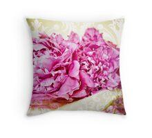 Hot Pink Peony Throw Pillow