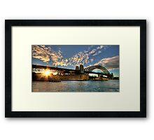 Winter Sunset at Sydney Harbour Bridge Framed Print