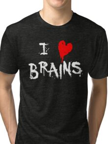 I HEART BRAINS.... Tri-blend T-Shirt