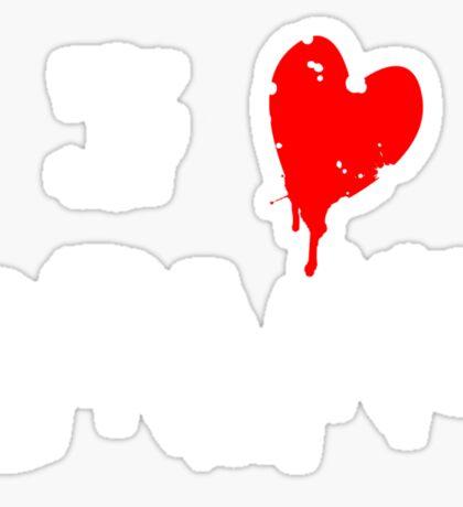 I HEART BRAINS.... Sticker