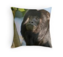 Black Howler Monkey Throw Pillow