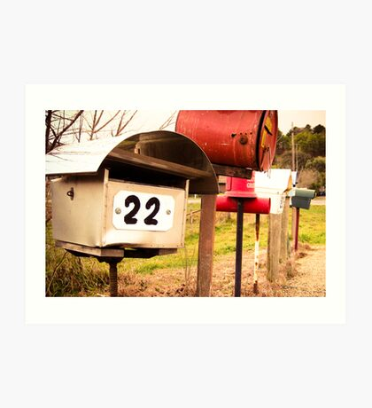 Country Boxes Art Print