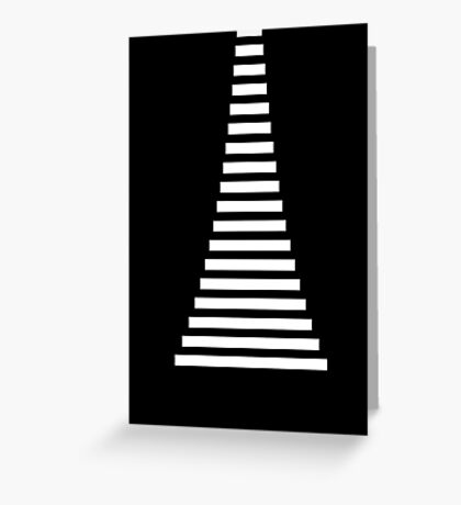 White Lines Greeting Card