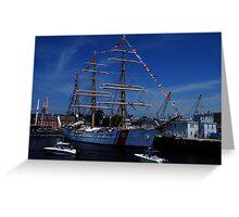 Sail Boston- US Coast Guard Greeting Card