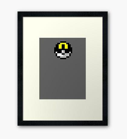 Pixel UltraBall Framed Print