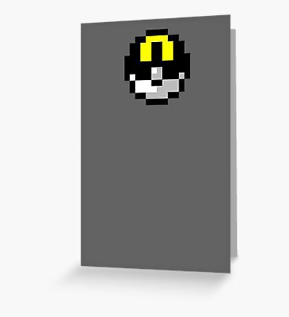 Pixel UltraBall Greeting Card
